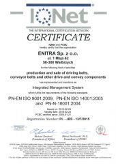 Enitra - Certyfikat IQNET